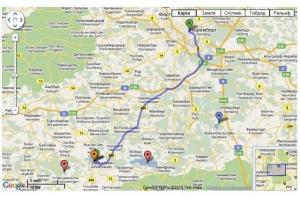 Карта озёр и рек Германии